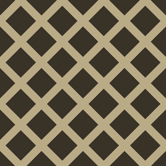 45/135 degree angle diagonal checkered chequered lines, 27 pixel lines width, 75 pixel square size, Pavlova and Creole plaid checkered seamless tileable