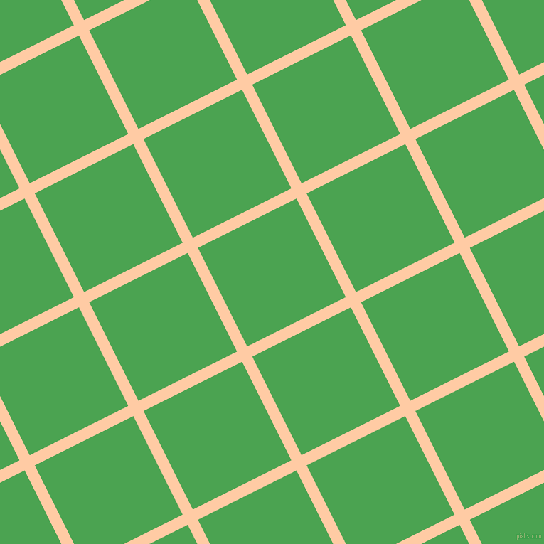 27/117 degree angle diagonal checkered chequered lines, 16 pixel lines width, 155 pixel square size, Peach and Fruit Salad plaid checkered seamless tileable