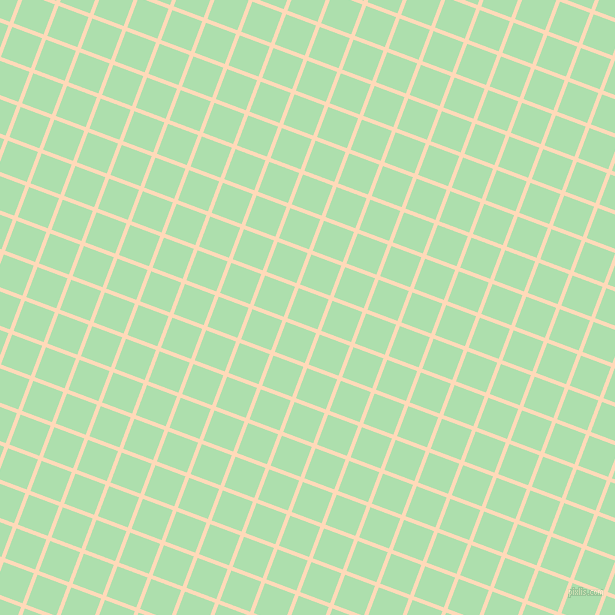 69/159 degree angle diagonal checkered chequered lines, 4 pixel line width, 32 pixel square sizePeach Puff and Moss Green plaid checkered seamless tileable