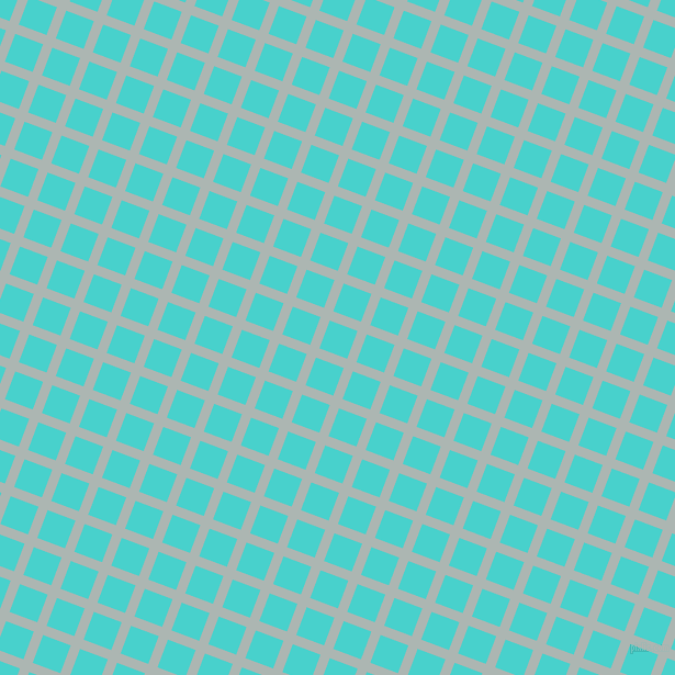 69/159 degree angle diagonal checkered chequered lines, 9 pixel lines width, 27 pixel square size, Periglacial Blue and Medium Turquoise plaid checkered seamless tileable