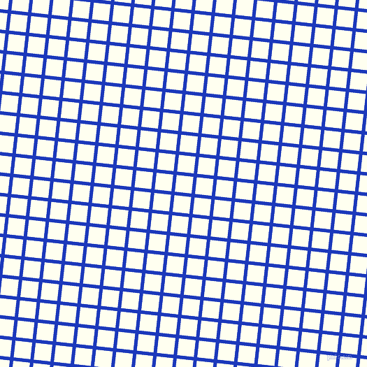 84/174 degree angle diagonal checkered chequered lines, 5 pixel lines width, 24 pixel square size, Persian Blue and Ivory plaid checkered seamless tileable