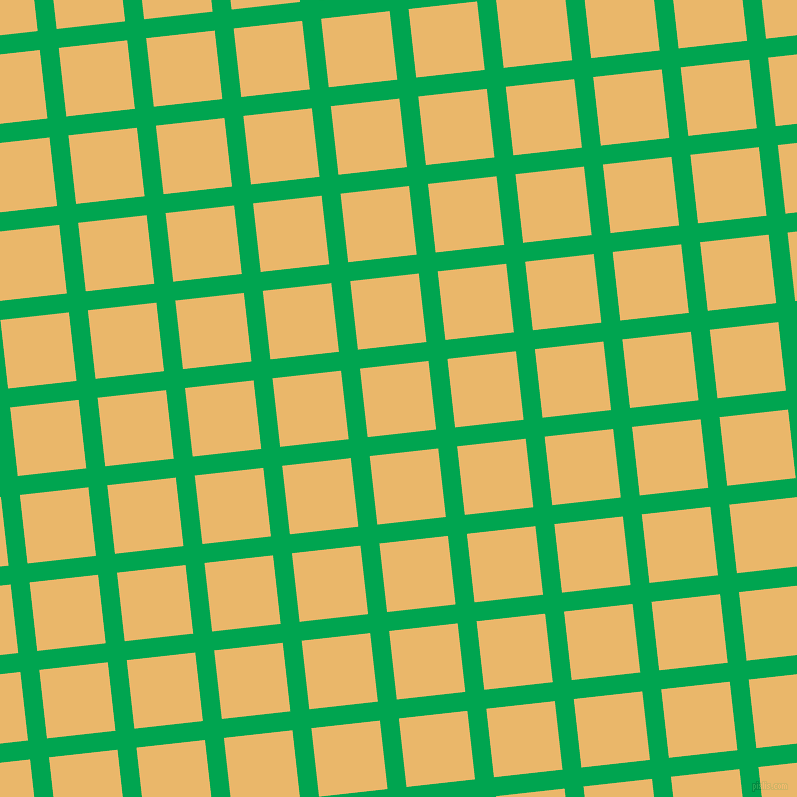 6/96 degree angle diagonal checkered chequered lines, 19 pixel lines width, 69 pixel square size, Pigment Green and Harvest Gold plaid checkered seamless tileable