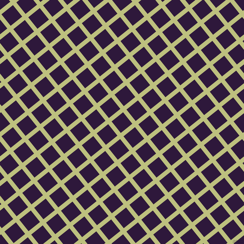 39/129 degree angle diagonal checkered chequered lines, 15 pixel line width, 51 pixel square size, Pine Glade and Blackcurrant plaid checkered seamless tileable