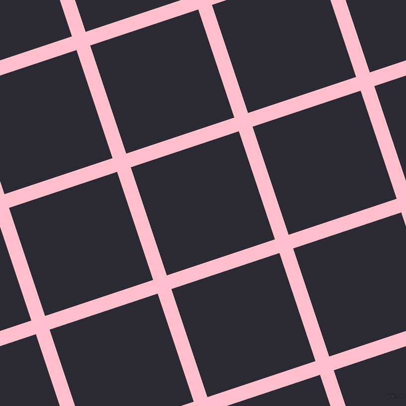 18/108 degree angle diagonal checkered chequered lines, 29 pixel lines width, 229 pixel square size, Pink and Haiti plaid checkered seamless tileable