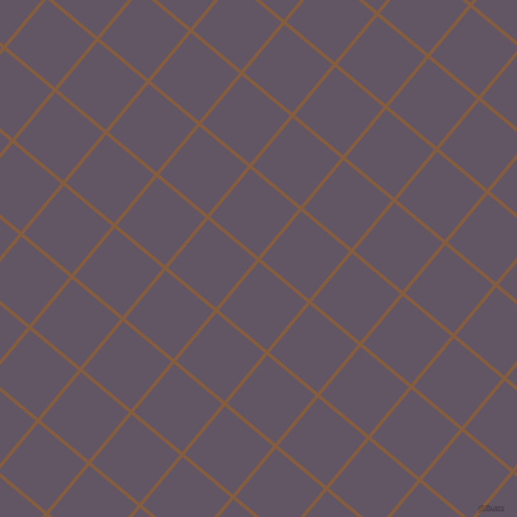 50/140 degree angle diagonal checkered chequered lines, 5 pixel line width, 88 pixel square size, Potters Clay and Fedora plaid checkered seamless tileable