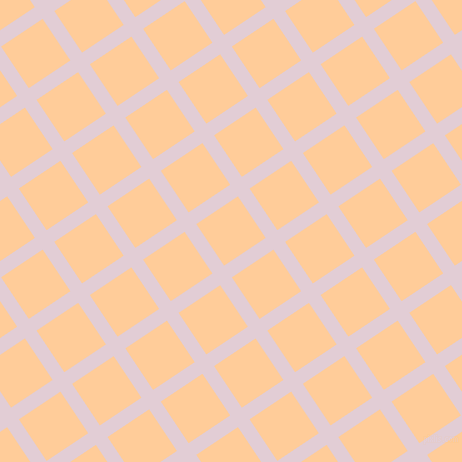 34/124 degree angle diagonal checkered chequered lines, 14 pixel lines width, 50 pixel square size, Prim and Peach-Orange plaid checkered seamless tileable