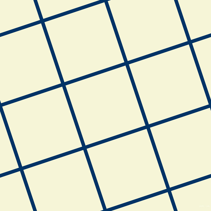 18/108 degree angle diagonal checkered chequered lines, 12 pixel lines width, 216 pixel square size, Prussian Blue and Hint Of Yellow plaid checkered seamless tileable