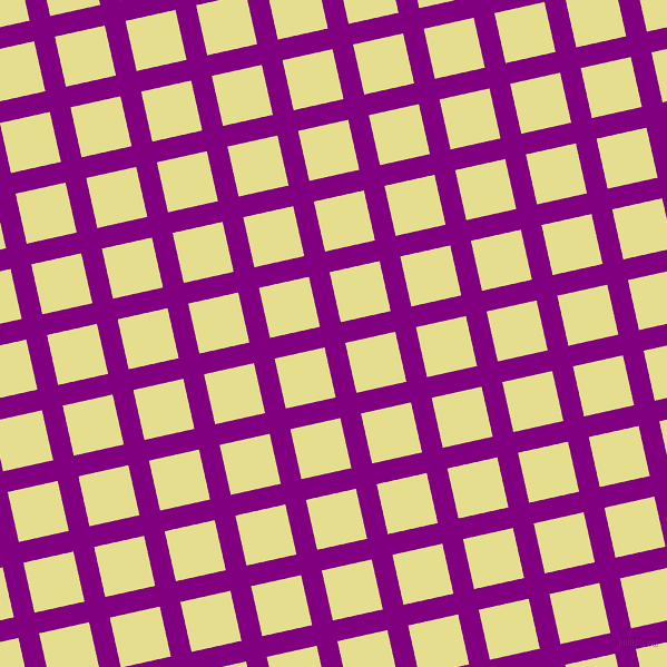 13/103 degree angle diagonal checkered chequered lines, 19 pixel lines width, 46 pixel square size, Purple and Primrose plaid checkered seamless tileable