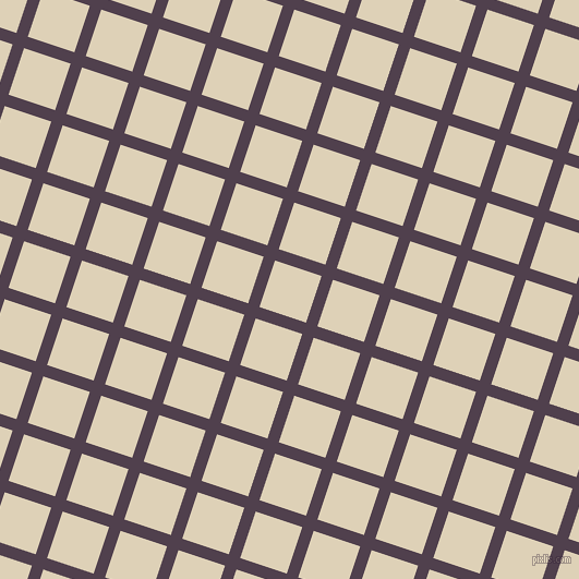 72/162 degree angle diagonal checkered chequered lines, 11 pixel lines width, 45 pixel square size, Purple Taupe and Spanish White plaid checkered seamless tileable