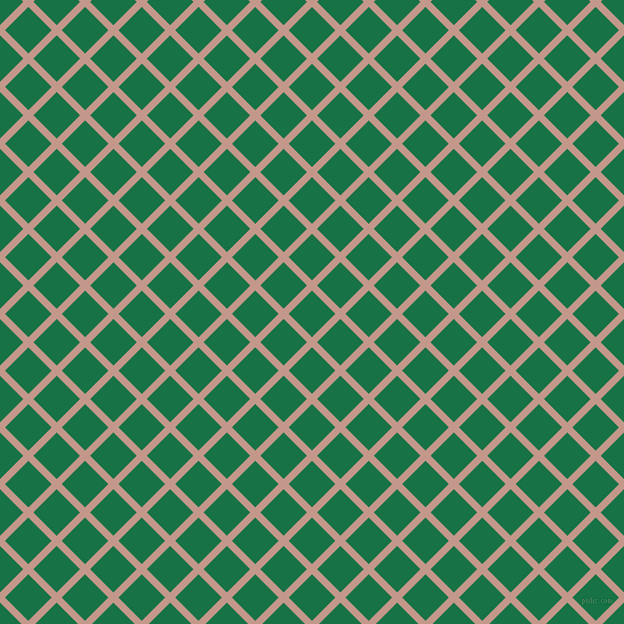 45/135 degree angle diagonal checkered chequered lines, 8 pixel lines width, 37 pixel square size, Quicksand and Dark Spring Green plaid checkered seamless tileable