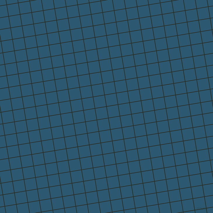 9/99 degree angle diagonal checkered chequered lines, 2 pixel lines width, 38 pixel square size, Rangoon Green and Chathams Blue plaid checkered seamless tileable