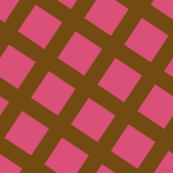56/146 degree angle diagonal checkered chequered lines, 55 pixel line width, 111 pixel square sizeRaw Umber and Cranberry plaid checkered seamless tileable
