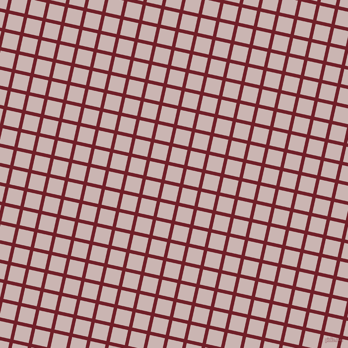 77/167 degree angle diagonal checkered chequered lines, 7 pixel lines width, 31 pixel square size, Red Berry and Cold Turkey plaid checkered seamless tileable