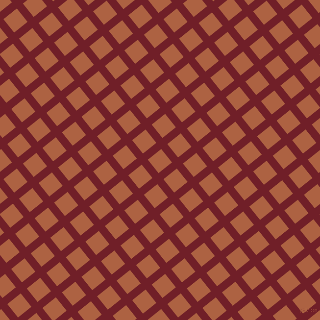 39/129 degree angle diagonal checkered chequered lines, 16 pixel line width, 35 pixel square size, Red Berry and Tuscany plaid checkered seamless tileable