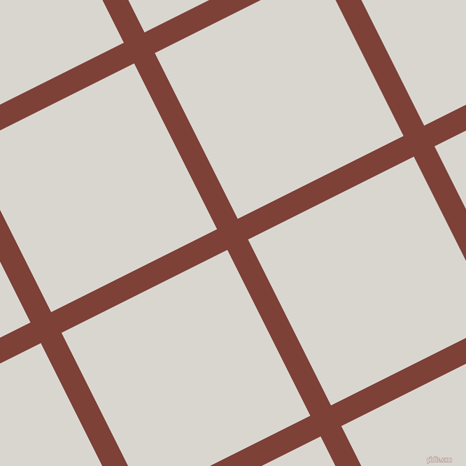 27/117 degree angle diagonal checkered chequered lines, 33 pixel line width, 265 pixel square size, Red Robin and Timberwolf plaid checkered seamless tileable