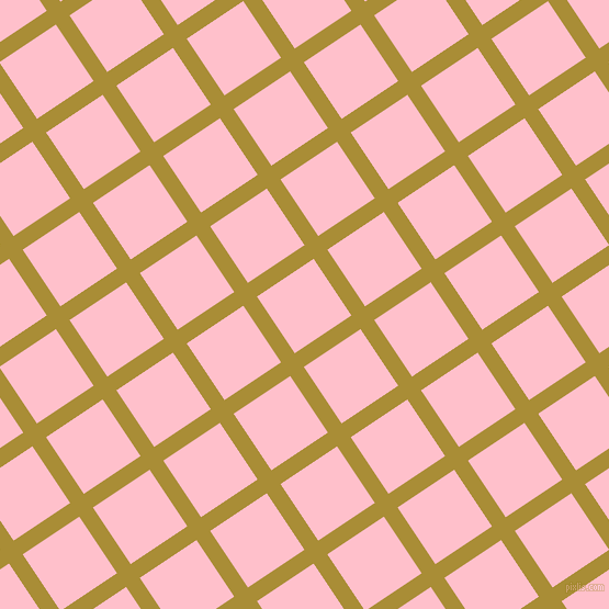 34/124 degree angle diagonal checkered chequered lines, 15 pixel line width, 62 pixel square size, Reef Gold and Pink plaid checkered seamless tileable