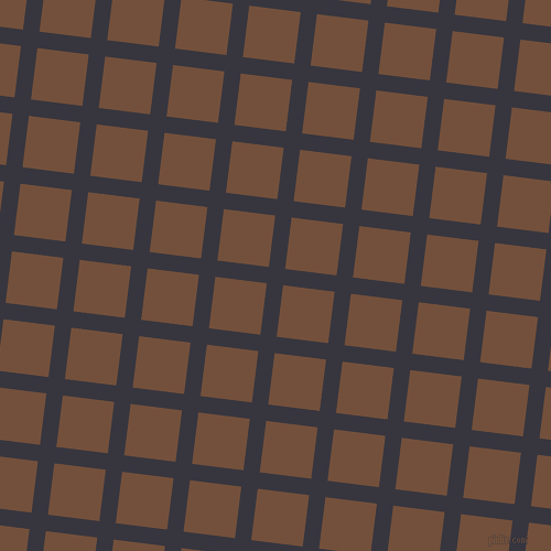 83/173 degree angle diagonal checkered chequered lines, 15 pixel line width, 47 pixel square size, Revolver and Old Copper plaid checkered seamless tileable