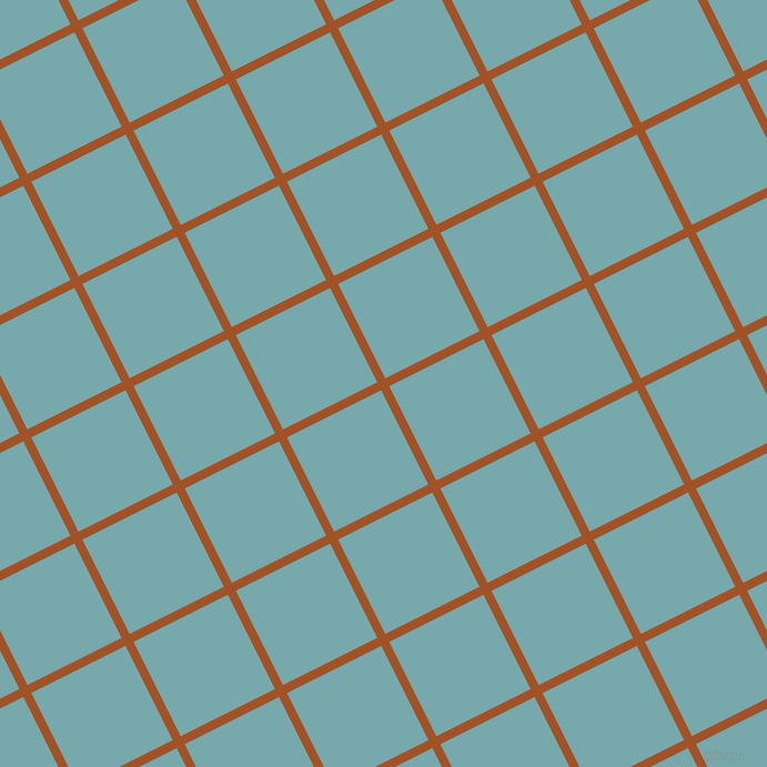 27/117 degree angle diagonal checkered chequered lines, 8 pixel line width, 95 pixel square size, Rich Gold and Neptune plaid checkered seamless tileable