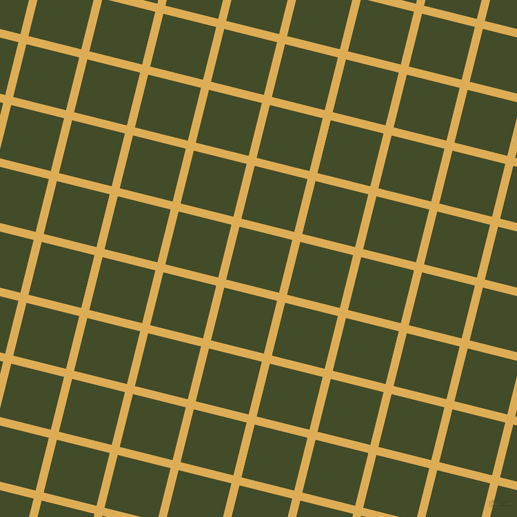 76/166 degree angle diagonal checkered chequered lines, 12 pixel line width, 79 pixel square size, Rob Roy and Bronzetone plaid checkered seamless tileable