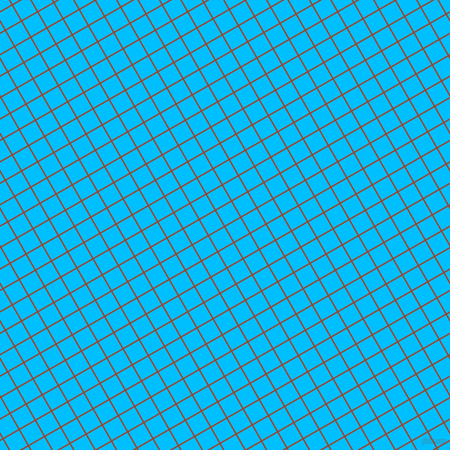 30/120 degree angle diagonal checkered chequered lines, 2 pixel line width, 25 pixel square size, Rock Spray and Deep Sky Blue plaid checkered seamless tileable