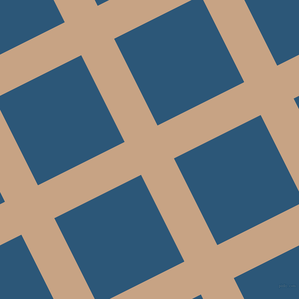 27/117 degree angle diagonal checkered chequered lines, 76 pixel line width, 200 pixel square size, Rodeo Dust and Venice Blue plaid checkered seamless tileable