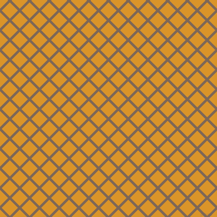 45/135 degree angle diagonal checkered chequered lines, 8 pixel line width, 37 pixel square size, Roman Coffee and Buttercup plaid checkered seamless tileable