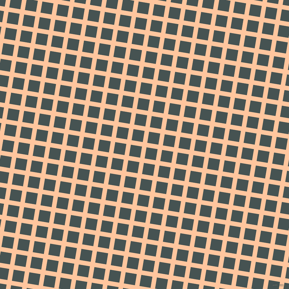 81/171 degree angle diagonal checkered chequered lines, 15 pixel line width, 37 pixel square size, Romantic and Dark Slate plaid checkered seamless tileable