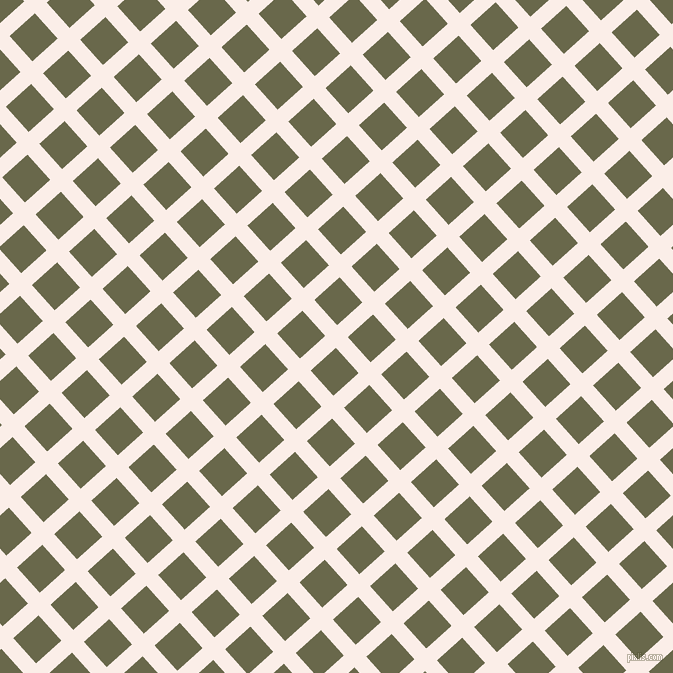 42/132 degree angle diagonal checkered chequered lines, 16 pixel line width, 34 pixel square size, Rose White and Hemlock plaid checkered seamless tileable