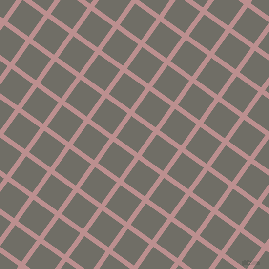 54/144 degree angle diagonal checkered chequered lines, 10 pixel lines width, 54 pixel square size, Rosy Brown and Ironside Grey plaid checkered seamless tileable