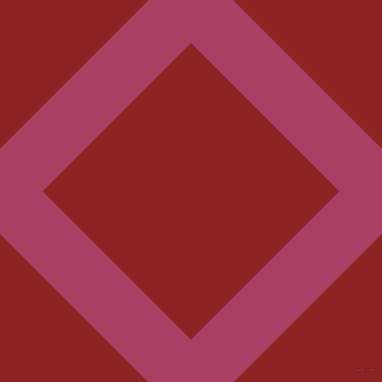 45/135 degree angle diagonal checkered chequered lines, 123 pixel line width, 429 pixel square size, Rouge and Mandarian Orange plaid checkered seamless tileable