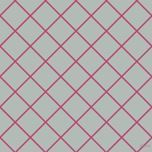 45/135 degree angle diagonal checkered chequered lines, 5 pixel line width, 67 pixel square size, Royal Heath and Loblolly plaid checkered seamless tileable