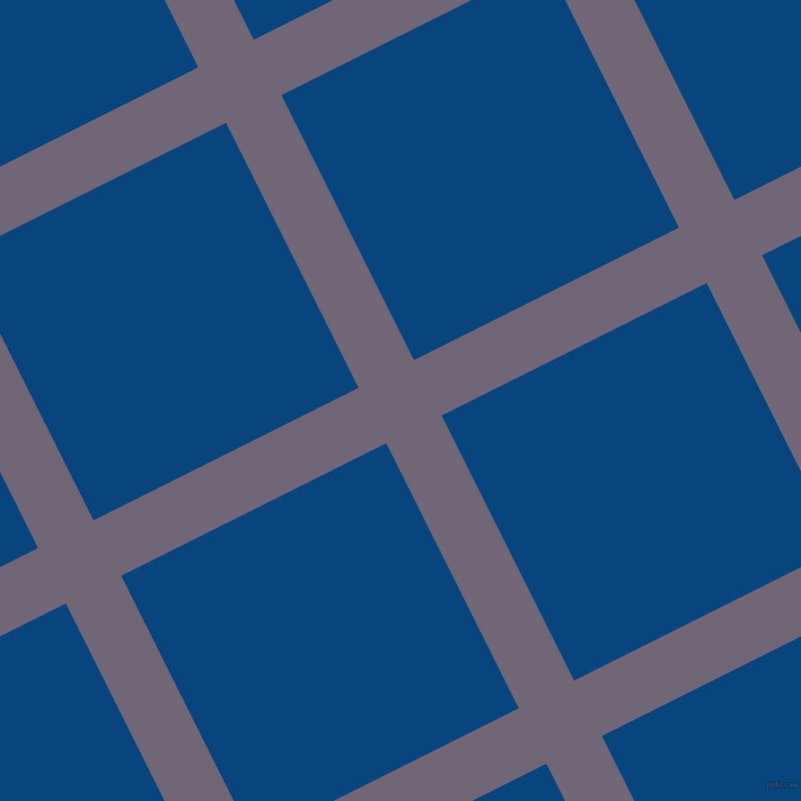 27/117 degree angle diagonal checkered chequered lines, 69 pixel line width, 330 pixel square size, Rum and Dark Cerulean plaid checkered seamless tileable
