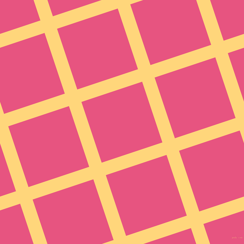 18/108 degree angle diagonal checkered chequered lines, 43 pixel lines width, 209 pixel square size, Salomie and Dark Pink plaid checkered seamless tileable