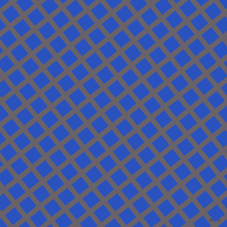 39/129 degree angle diagonal checkered chequered lines, 16 pixel lines width, 41 pixel square size, Salt Box and Cerulean Blue plaid checkered seamless tileable