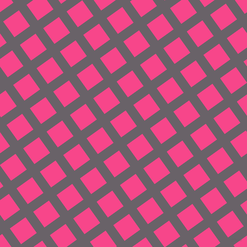 36/126 degree angle diagonal checkered chequered lines, 32 pixel line width, 66 pixel square size, Salt Box and Violet Red plaid checkered seamless tileable