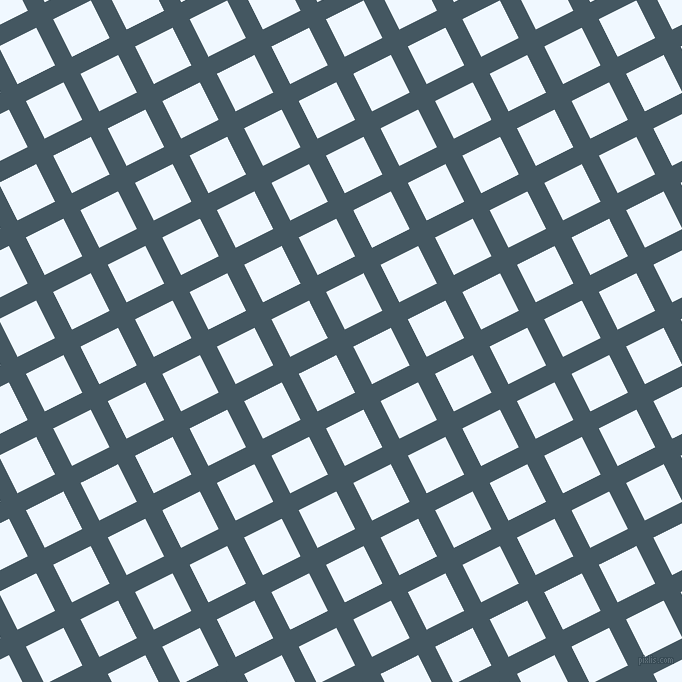 27/117 degree angle diagonal checkered chequered lines, 19 pixel lines width, 42 pixel square size, San Juan and Alice Blue plaid checkered seamless tileable