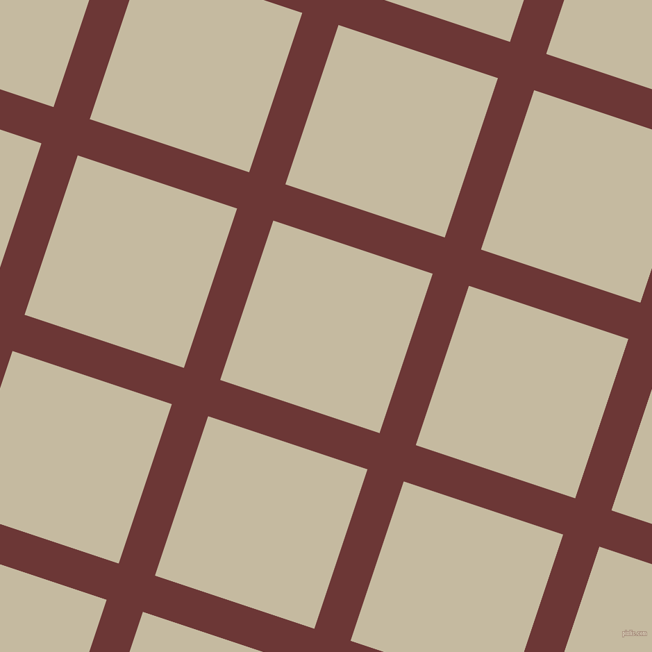 72/162 degree angle diagonal checkered chequered lines, 55 pixel line width, 242 pixel square size, Sanguine Brown and Sisal plaid checkered seamless tileable