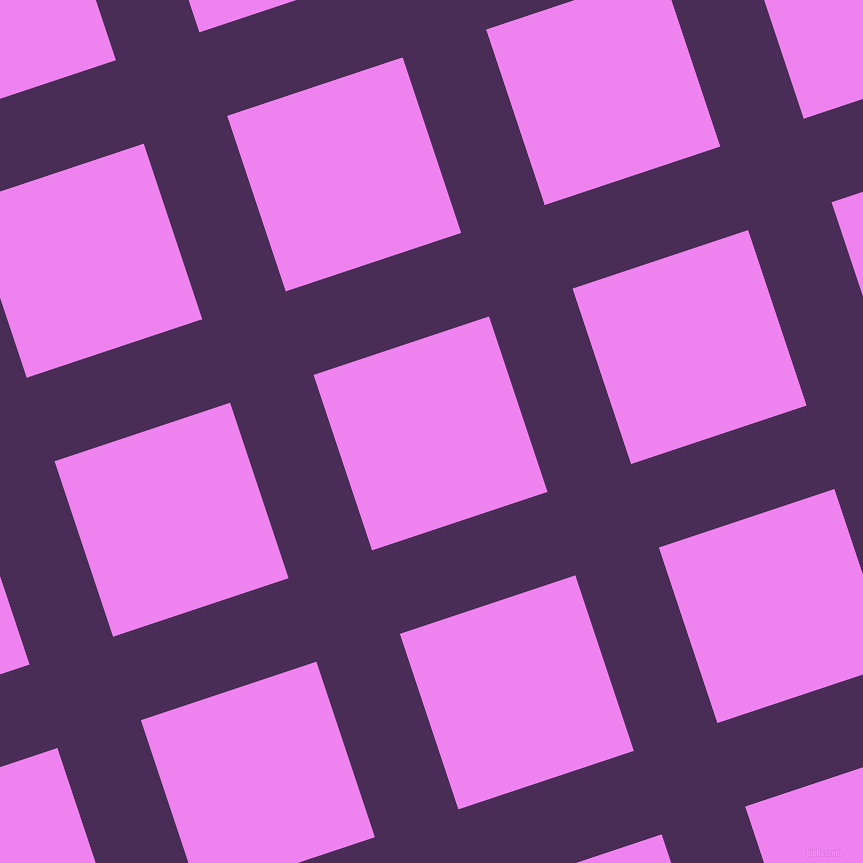 18/108 degree angle diagonal checkered chequered lines, 88 pixel lines width, 185 pixel square size, Scarlet Gum and Violet plaid checkered seamless tileable