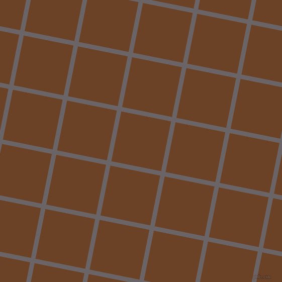 79/169 degree angle diagonal checkered chequered lines, 9 pixel line width, 101 pixel square size, Scorpion and Semi-Sweet Chocolate plaid checkered seamless tileable