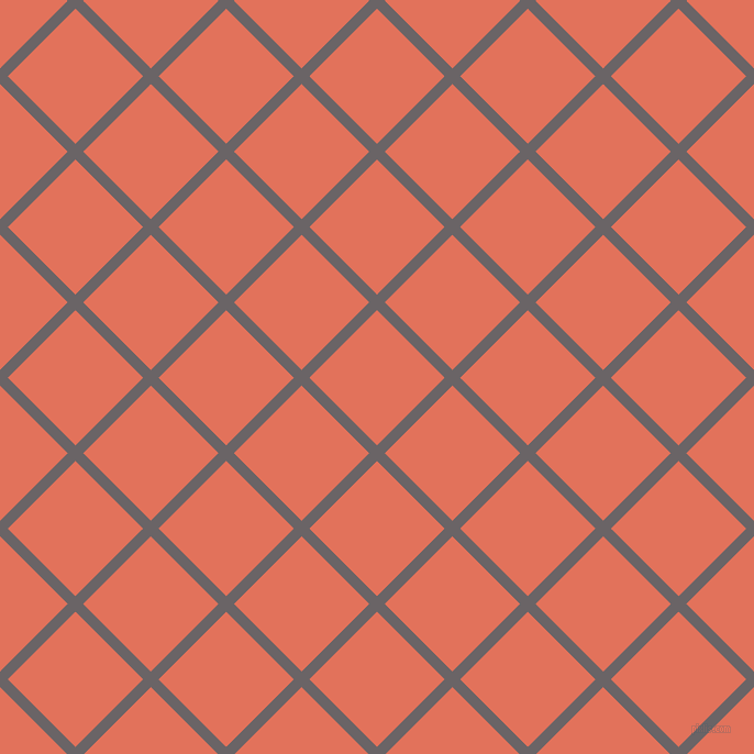 45/135 degree angle diagonal checkered chequered lines, 10 pixel line width, 87 pixel square size, Scorpion and Terra Cotta plaid checkered seamless tileable