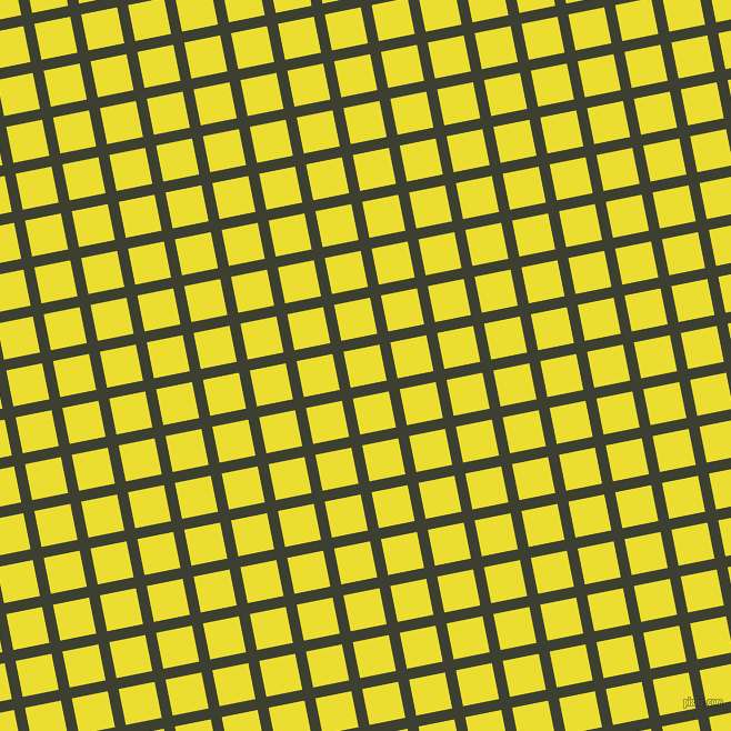 11/101 degree angle diagonal checkered chequered lines, 10 pixel line width, 33 pixel square size, Scrub and Golden Fizz plaid checkered seamless tileable