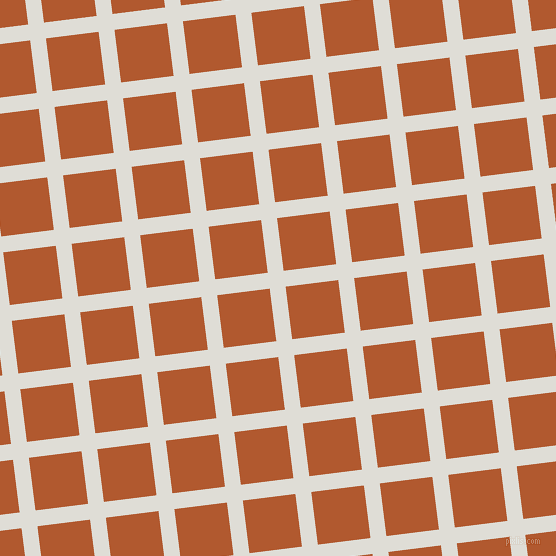 7/97 degree angle diagonal checkered chequered lines, 16 pixel lines width, 53 pixel square size, Sea Fog and Fiery Orange plaid checkered seamless tileable