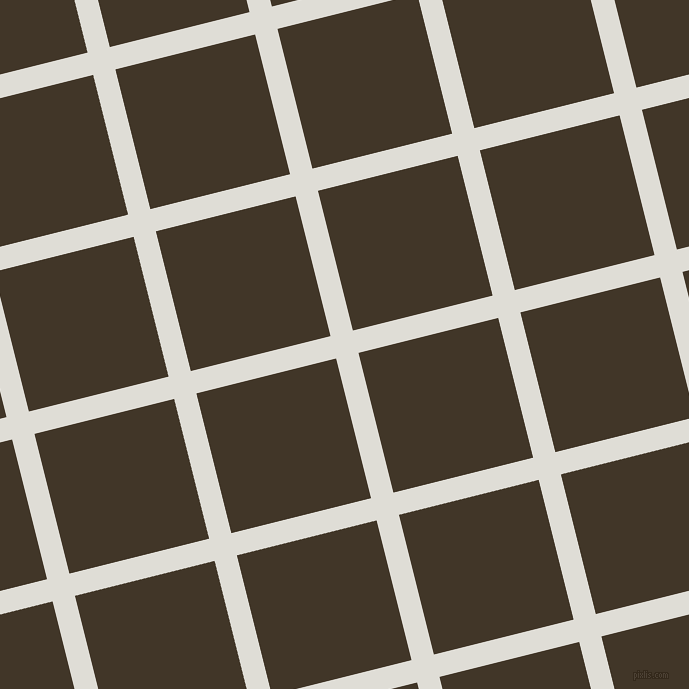 14/104 degree angle diagonal checkered chequered lines, 23 pixel line width, 144 pixel square size, Sea Fog and Jacko Bean plaid checkered seamless tileable
