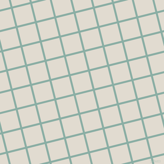 14/104 degree angle diagonal checkered chequered lines, 7 pixel line width, 63 pixel square size, Sea Nymph and Merino plaid checkered seamless tileable