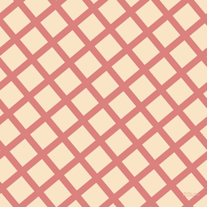 40/130 degree angle diagonal checkered chequered lines, 13 pixel line width, 40 pixel square size, Sea Pink and Egg Sour plaid checkered seamless tileable