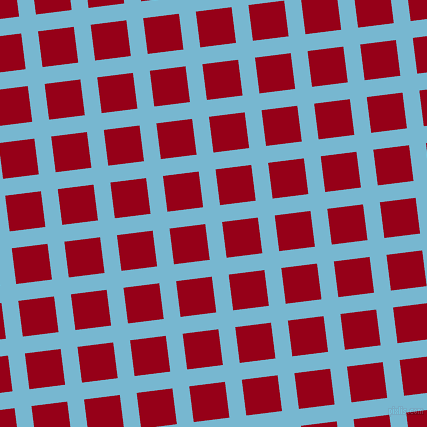 7/97 degree angle diagonal checkered chequered lines, 17 pixel lines width, 36 pixel square size, Seagull and Carmine plaid checkered seamless tileable