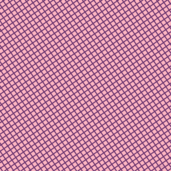 35/125 degree angle diagonal checkered chequered lines, 4 pixel line width, 14 pixel square size, Seance and Light Pink plaid checkered seamless tileable