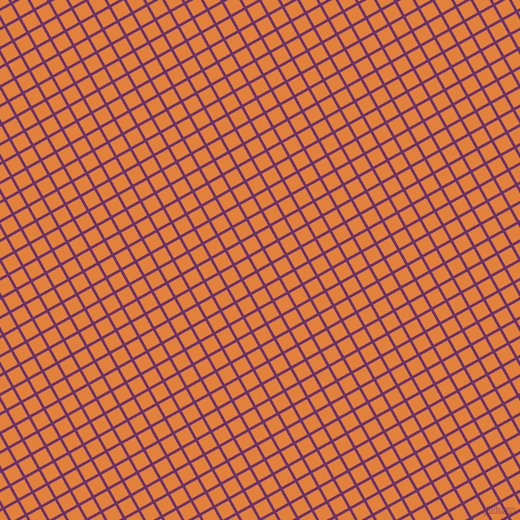 29/119 degree angle diagonal checkered chequered lines, 3 pixel line width, 16 pixel square size, Seance and Tree Poppy plaid checkered seamless tileable