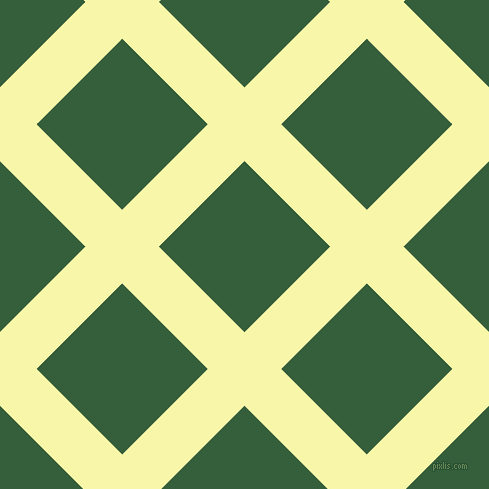 45/135 degree angle diagonal checkered chequered lines, 52 pixel lines width, 121 pixel square size, Shalimar and Hunter Green plaid checkered seamless tileable