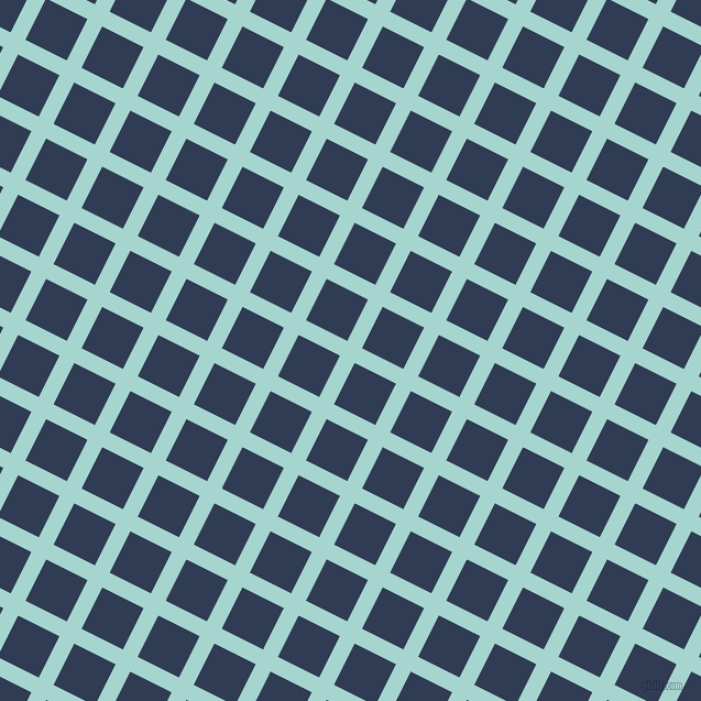 63/153 degree angle diagonal checkered chequered lines, 15 pixel line width, 42 pixel square size, Sinbad and Biscay plaid checkered seamless tileable